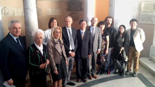 L'Ambasciata cinese in Italia in visita a Casa Leopardi