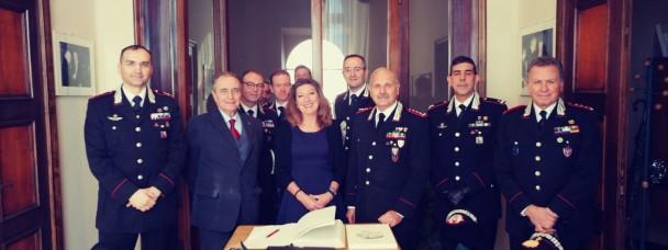 Visita a Casa Leopardi del Gen. di Corpo d'Armata Antonio Ricciardi
